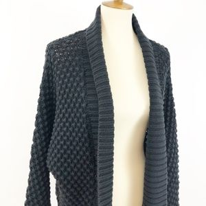 GAP Cocoon Shrug Black Textured Sweater Cardigan
